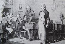 Der junge Mendelssohn bei Goethe im Junozimmer (1821) (Quelle: Wikimedia)