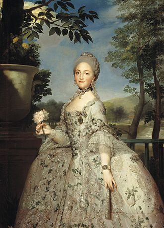 Maria Luisa of Parma - Portrait by Anton Raphael Mengs, c. 1765
