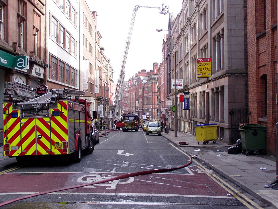 Merseyside Fire and Rescue on STanley STreet, Liverpool