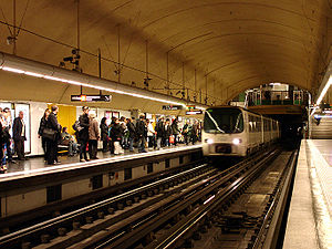 Marseille Metro - At Castellane station