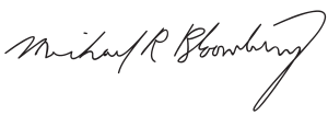 English: Signature of Michael Bloomberg.