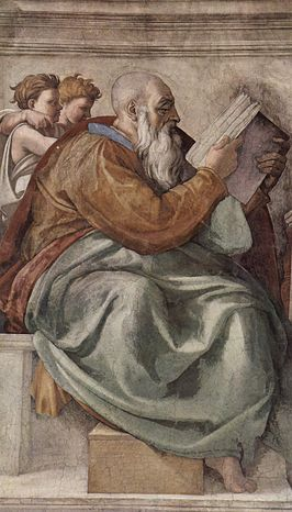 Zacharia in de Sixtijnse kapel (Michelangelo)