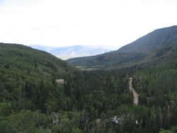 Heber Valley, looking toward Midway