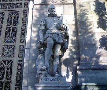 English: Statue of Miguel de Cervantes (1547–1...