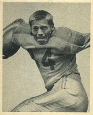 Mike Micka - Micka on a 1948 Bowman football card