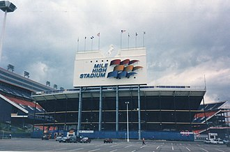 Mile High Stadium - Mile High Stadium in 1994