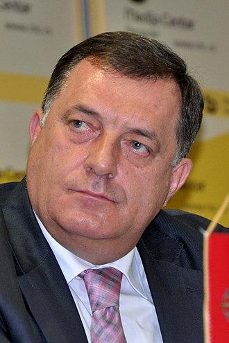 Chairman of the Presidency of Bosnia and Herzegovina - Image: Milorad Dodik (cropped)