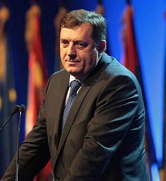 Bosnian genocide denial - Image: Milorad Dodik mod (cropped)