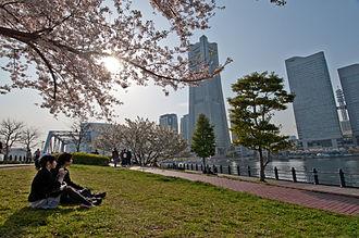 Minato Mirai 21 - Minato Mirai 21 skyline view from the Kishamichi Promenade