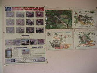 Land mine situation in Nagorno-Karabakh - School posters in Karabakh educating children on mines and UXO