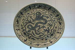 A Chinese Ming Dynasty (1368-1644 AD) blue-and...