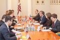 Ministru prezidents Valdis Dombrovskis tiekas ar Francijas satiksmes ministru Tjerī Mariāni (6748210733).jpg
