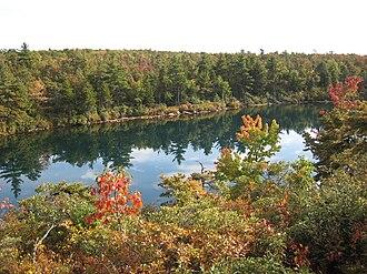 Minnewaska State Park Preserve - Lake Awosting in fall