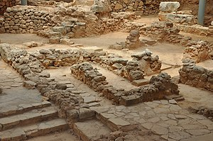 Kydonia - Excavations of Minoan city of Kydonia. Kastelli-quarter: Chania, Crete, Greece