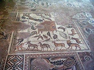 Mopsuestia - Mosaics depicting Noah's Ark in the Misis Mosaic Museum