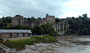 Chepstow Castle from the old Wye Bridge