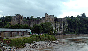 Chepstow Castle, Monmouthshire, from the River Wye