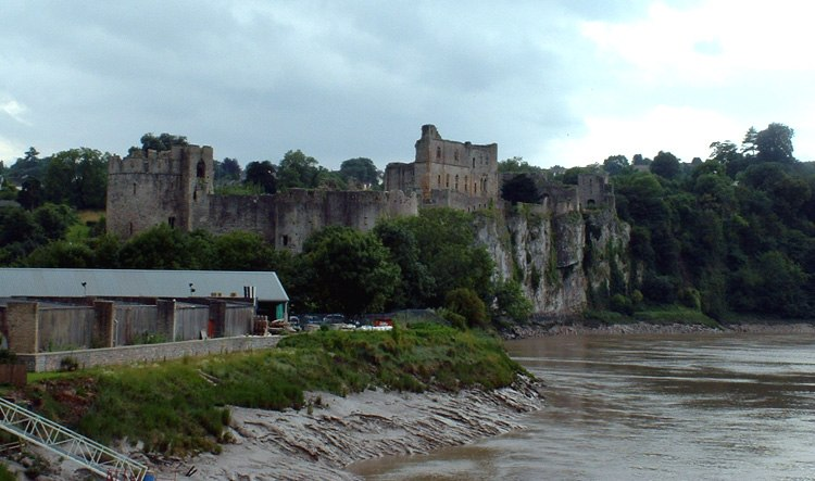 Mms chepstow castle from river wye