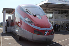 Mockup of Frecciarossa 1000 on InnoTrans 2012.jpg