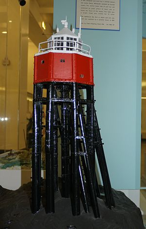 Smalls Lighthouse - A model of the original lighthouse, on view at the Science Museum in London