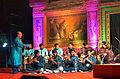 Mohini Mohan Patnaik orchestrating an Odissi music composition at Utkal Sangeet Natak Mahavidyalaya.JPG
