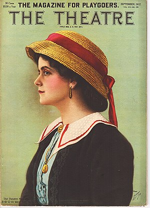 """Molly Pearson - Molly Pearson as """"Bunty"""" on the cover of The Theatre."""