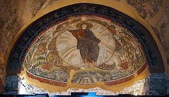 Church of Hosios David - Mosaic of Theophany in Hosios David