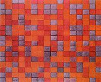 Mondrian Compositie Dambord, donkere Kleuren.jpg
