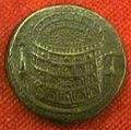 Monetiere di fi, moneta romana imperiale di tito con inaugurazione dell'anf. flavio.JPG