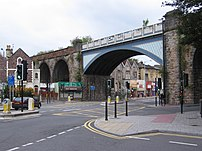 Railway bridge in Montpelier, w:Bristol, UK. T...