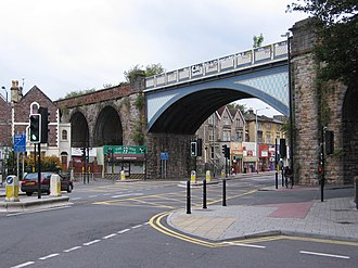 Ashley (Bristol ward) - 'The Arches' railway bridge is a local landmark on the borders of Montpelier, St Andrews and Cotham.