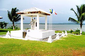 Battle of Ukoko - Memorial in Cocobeach commemorating the battle