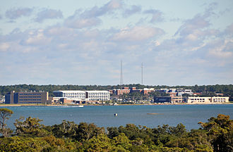 Morehead City, North Carolina - Morehead City, seen from Atlantic Beach