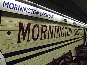 Mornington Crescent tube station - Image: Mornington Crescent stn tiling