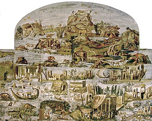 Nile mosaic of Palestrina - The Nile Mosaic of Palestrina.