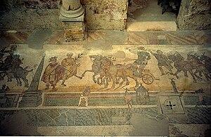 Mosaic in Villa Romana del Casale, by Jerzy Strzelecki, 13