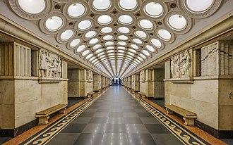 Elektrozavodskaya (Moscow Metro) - Image: Moscow Elektrozavodskaya metro station asv 2018 09