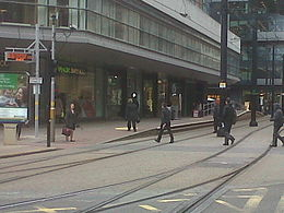 Mosley Street Metrolink station closed.jpg