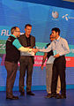 Most Contribution Award was given to a Bangla Wikipedian by Jimmy Wales.jpg