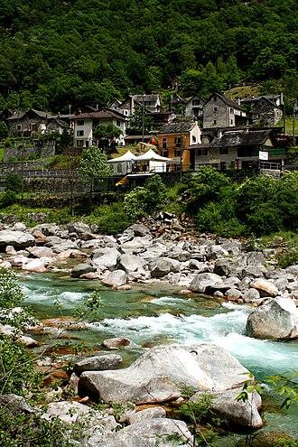 Lavertezzo - Motta hamlet, one of the small villages along the Verzasca river