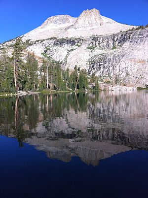 May Lake (California) - Mount Hoffmann reflected in May Lake