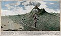 Mount Vesuvius erupting; view from the south, with surroundi Wellcome V0025236.jpg