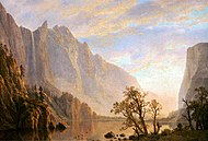 Mountain and River Scene oil 1864 Albert Bierstadt.jpg