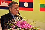 Mr. Phothong Ngonphachanh, Deputy Director General of Road and Bridge Department, Ministry of Public Works and Transport, Laos, addresses the Lower Mekong Initiative Infrastructure Best Practices Exchange (8379442886).jpg