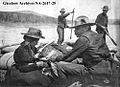 Mrs. C. West and Doctor Christopher H. West, some members of Treaty Party No. 8 in a York Boat on the Peace River, 1903-1909. .jpg