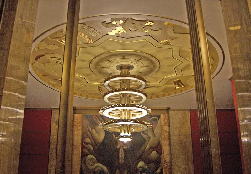 πολυέλαιος, art deco, στυλ διακόσμησης, χρυσός πολυέλαιος