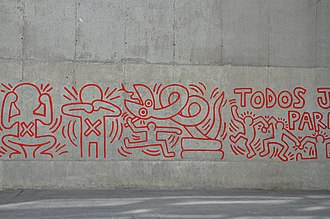 Keith Haring - A mural by Haring in Barcelona