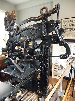 Columbian press - Columbian press at the Museum of Lincolnshire Life