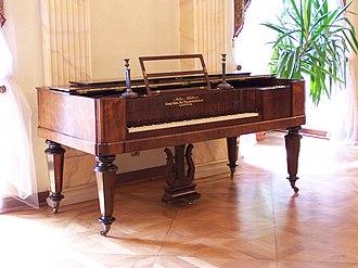 Square piano - A square grand piano