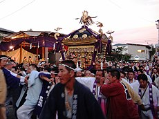 Myojin Mikoshi that arrived Otabisho.JPG